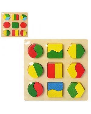 Дерев'яна рамка-вкладиш половинки, головоломка,пазл А5.С35757-1,3
