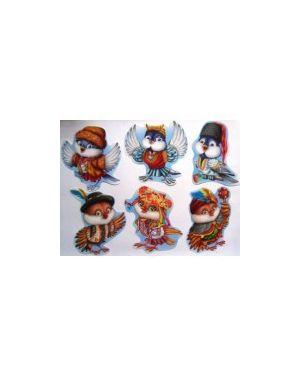 "Картинки на скотчі. ""Пташки"" 6 елементів. 0084/284"