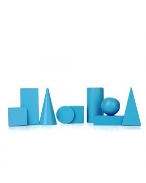 Геометричні тіла та фігури. (Деревяні, блакитні, малі) 371