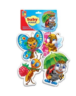 "Baby Puzzle ""Забавні комахи"" 2+ VT1106-06 Великі м""які деталі"