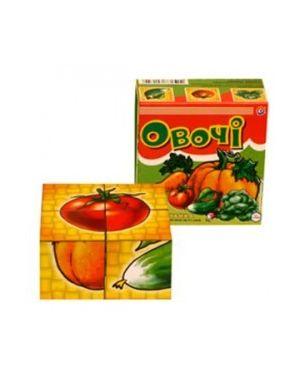 Кубики дитячі 4шт.  Інтелком Овочі ТехноК 1349
