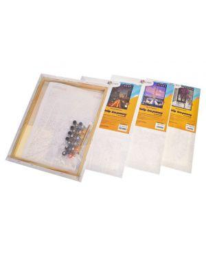 Картина за номерами + фарби, пензлик мікс(без коробки) 30*40
