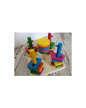 Сортер куб+геометричні фігури. Пірамідка логіка.MD 0061