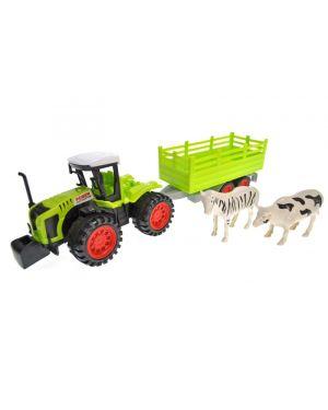 Іграшка Трактор з прицепом 666-143А