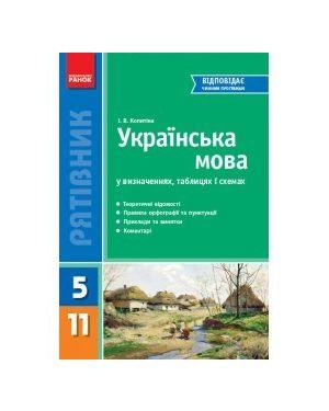 "Укр.мова у визн,табл i схем. 5-11 кл. С-я ""Рятівник"""